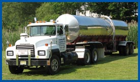 our Mack water storage trailer